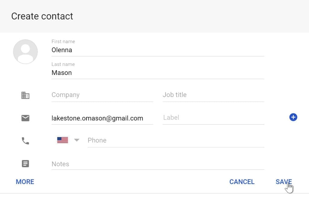 create new contact form areal news