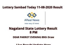 Nagaland State Lottery Result _ DEAR PARROT EVENING 89th Draw