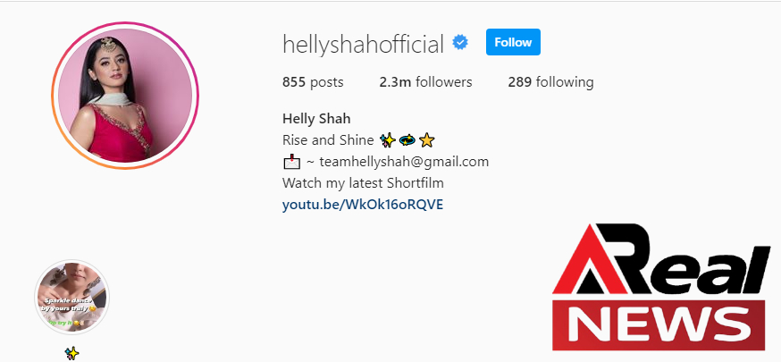 Helly Shah Instagram Account