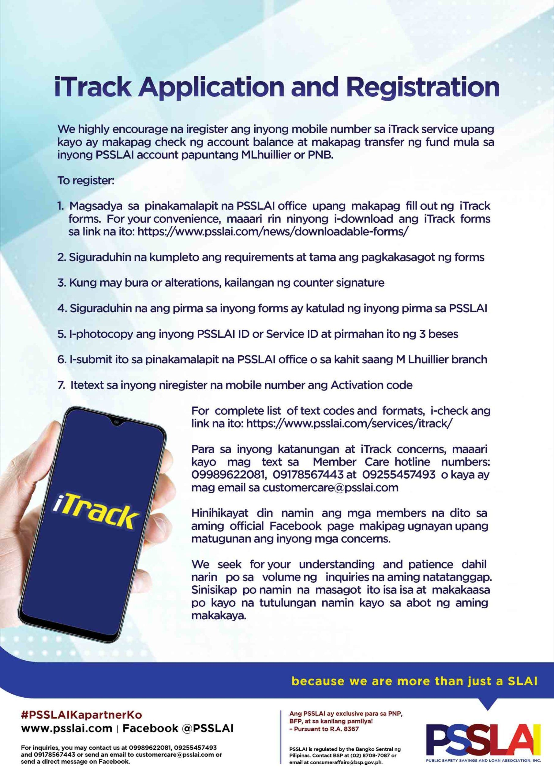 iTrack Application Form