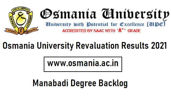 Osmania University Revaluation Results 2021
