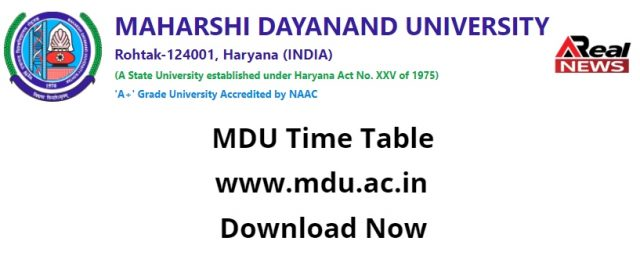 MDU Time Table