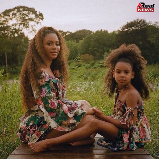 Blue Ivy Carter with Her Mother